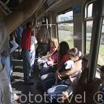 Interior de un vagon de metro. Departamento de Antioquia. MEDELLIN. Colombia