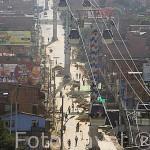 Obras de finalización del metrocable que une las estaciones de Acevedo con el barrio alto de Santo Domingo Savio. MEDELLIN. Departamento de Antioquia. Colombia