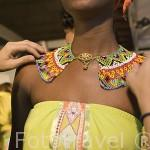 Modelos con prendas del diseñador Hernan Zajar antes del desfile. MEDELLIN. Departamento de Antioquia. Colombia