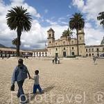 Plaza central de estilo colonial. Pueblo de ZIPAQUIRA. Cerca de BOGOTA. Colombia.