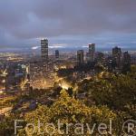 Vista panoramica de la ciudad de Bogota desde el mirador de Monserrate. BOGOTA. Colombia