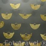 Una pieza de oro de los antiguos pobladores de Colombia (Chibchas entre otros). Museo del Oro. BOGOTA. Colombia