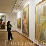 Interior. Obras (pinturas y esculturas) Museo Botero. BOGOTA. Colombia