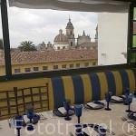 Restaurante mirador. Hotel de la Opera. En calle 10. Barrio de la Candelaria. BOGOTA. Colombia