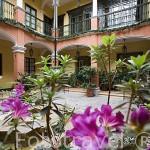 Patio interior. Hotel de la Opera. En calle 10. Barrio de la Candelaria. BOGOTA. Colombia