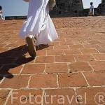 Entrada a la fortaleza de San Felipe. (obra militar, construido entre 1536 y 1657). CARTAGENA DE INDIAS. Colombia