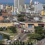 Al fondo la Ciudad Vieja. CARTAGENA DE INDIAS. Colombia