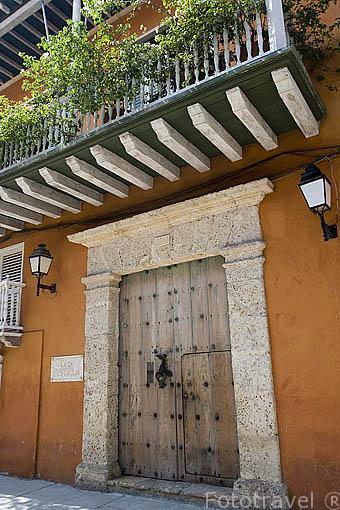 Edificio antigua casa del Conde de Pestagua. Ciudad Vieja. CARTAGENA DE INDIAS. Colombia
