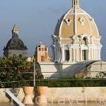 Cupula de la iglesia y Monasterio San Pedro Claver desde el Hotel Charleston Cartagena. Ciudad Vieja. CARTAGENA DE INDIAS. Colombia