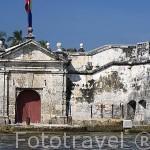 Fachada del fuerte de San Fernando de Bocachica. CARTAGENA DE INDIAS. Departamento de Bolivar. Colombia
