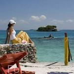 Playa y hotel Isla del Pirata. Islas del Rosario. CARTAGENA DE INDIAS. Departamento de Bolivar. Colombia