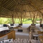 Instalaciones del hotel Agua en la isla de Cholon. Islas del Rosario. Mar Caribe. CARTAGENA DE INDIAS. Departamento de Bolivar. Colombia