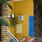 Interior. Hotel Las Palmas. Estilo colonial. Barrio de Getsemani. CARTAGENA DE INDIAS. Colombia