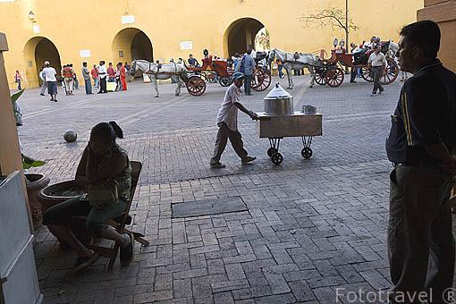 Soportales del Portal de los Dulces. Centro historico de CARTAGENA DE INDIAS. Colombia