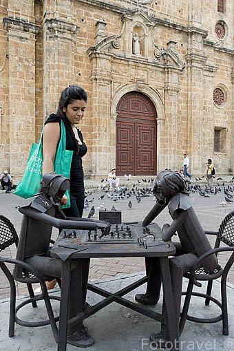Plaza de San Pedro.Claver CARTAGENA DE INDIAS. Ciudad patrimonio de la Humanidad, UNESCO. Colombia. Suramerica
