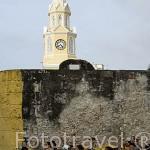 Terrazas junto al Portal de los Dulces. CARTAGENA DE INDIAS. Ciudad patrimonio de la Humanidad, UNESCO. Colombia. Suramerica