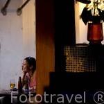 Restaurante Rincón de la Mantilla. Ciudad de CARTAGENA DE INDIAS. Patrimonio de la UNESCO. Colombia. Suramerica
