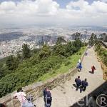 Vista de la ciudad de BOGOTA desde lo alto del cerro Monserrate. Con 3152 mts de altura. Colombia. Suramerica