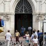Fachada de la catedral de Santa Ana. Ciudad de SANTA ANA. El Salvador. Centro américa.