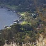 Vista parcial del lago / crater de Coatepeque. El Salvador. Centro américa.