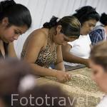 Empleados seleccionando los granos de café. Fabrica agricola San Agustin. Concepción de ATACO. Ruta de las Flores. El Salvador. Centro américa.