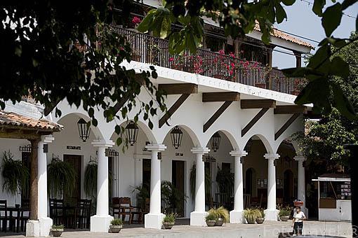 Soportales. Población de SUCHITOTO. El Salvador. Centro américa.