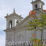 Iglesia de Santa Lucia. s.XVIII. Plaza de SUCHITOTO. El Salvador. Centro américa.
