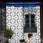Puerta de entrada. Hotel de estilo colonial Los Almendros de San Lorenzo. Pueblo de SUCHITOTO. El Salvador. Centro américa.