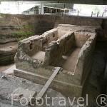 Antigua casa cubierta por lava. Sitio en excavaciones arqueológicas Joya de Cerén. 600 d.C, Patrimonio de la UNESCO. Al noroeste de San Salvador. El Salvador. Centro américa.