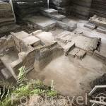 Complejo cubierto por lava. Sitio en excavaciones arqueológicas Joya de Cerén. 600 d.C, Patrimonio de la UNESCO. Al noroeste de San Salvador. El Salvador. Centro américa.