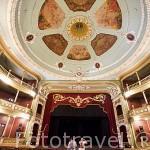 Sala principal. Teatro Nacional. Ciudad de SANTA ANA. El Salvador. Centro américa.