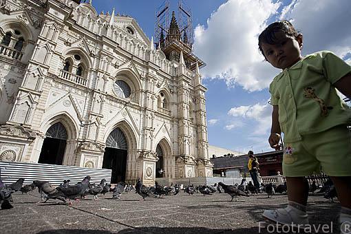 Fachada de la catedral de Santa Ana, 1906. Ciudad de SANTA ANA. El Salvador. Centro américa.