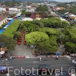 Pueblo de JUAYUA y el parque. Ruta de las Flores. El Salvador. Centro américa.