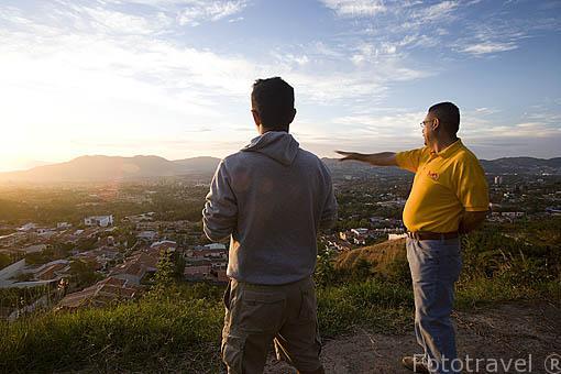 Vista de la ciudad de SAN SALVADOR. El Salvador. Centro américa.