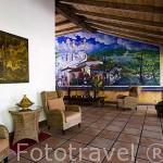 Hotel de estilo colonial Los Almendros de San Lorenzo. Pueblo de SUCHITOTO. El Salvador. Centro américa.