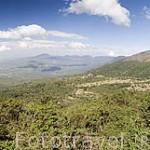 Vista del volcan Izalco a la izquierda desde el P.N. Cerro Verde. El Salvador. Centro américa.
