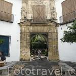 Fachada renacentista del Palacio de Viana. Plaza de Don Gome. Ciudad de CORDOBA. Patrimonio de la Humanidad. Andalucia. España