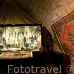 Interior del museo de las 3 Culturas y montaje explicativo y visual con personajes de la época arabe. Ciudad de CORDOBA. Patrimonio de la Humanidad. Andalucia. España