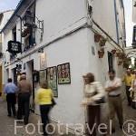 Esquina de Velazquez Bosco y calle de las Flores. Ciudad de CORDOBA. Patrimonio de la Humanidad. Andalucia. España