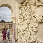 Paredes decoradas en la casa de Ya´far. Conjunto arqueologico Madinat al-Zahra. En las afueras de la ciudad de CORDOBA. Andalucia. España