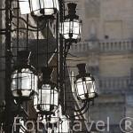 Farolillos junto a la Virgen de los Faroles, junto a la calle del Cardenal Herrero. Ciudad de CORDOBA. Patrimonio de la Humanidad. Andalucia. España