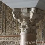 Capitel compuesto del salon de Abd al-Rahman III. El conjunto arqueologico Madinat al-Zahra. En las afueras de la ciudad de CORDOBA. Andalucia. España