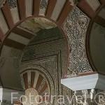 Arcos del salon de Abd al-Rahman III. El conjunto arqueologico Madinat al-Zahra. En las afueras de la ciudad de CORDOBA. Andalucia. España