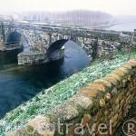 Puente medieval de HOSPITAL DE ORBIGO. León. Castilla y León. España. Camino de Santiago
