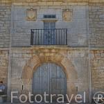 Fachada de la casa palaciega de los Garcia Lorenzana. Pueblo de VILLASECINO. Comarca de Babia. Leon. Castilla y Leon. España