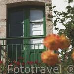 Flores en el jardin de una casa en TORRESTIO. Comarca de Babia. Leon. Castilla y Leon. España