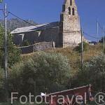Iglesia con espadaña en el pueblo de TORRESTIO. Comarca de Babia. Leon. Castilla y Leon. España