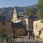 La iglesia del pueblo de HUERGAS DE BABIA. Comarca de Babia. Leon. Castilla y Leon. España
