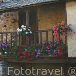 Bonita casa antigua. Pueblo de RIOLAGO DE BABIA. Comarca de Babia. Leon. Castilla y Leon. España