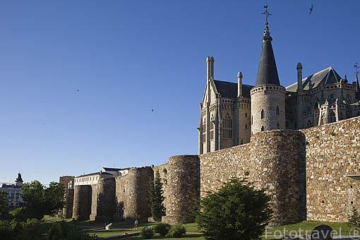 Murallas de ASTORGA. Provincia de Leon. España. Spain